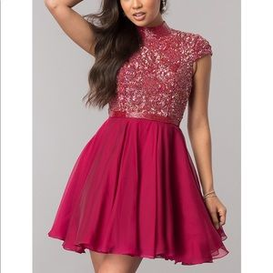 Sherri Hill red homecoming dress New size 6 beaded